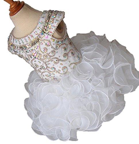 Cupcake Communion Dress (Weiai Baby Girls' Cupcakes Crystals Birthday Party Communion Dresses 6 US)