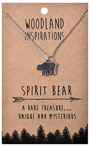 Shag Wear Woodland Nature Inspirations Quote Necklace (Spirit Bear Pendant) ()