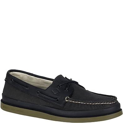 759d953c5e79e6 Image Unavailable. Image not available for. Color  Sperry Top-Sider  Authentic Original 2-Eye Surplus Boat Shoe Men 8 Black