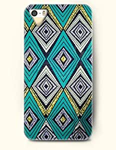 SevenArc Phone Skin Apple iPhone case for iPhone 5 5s ( 5C EXCLUDED ) -- Teal Beige Yellow Geometric Art