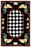 AREA RUGS - ''FRENCH COUNTRY ROOSTER'' INDOOR OUTDOOR RUG - 5' x 7'6''