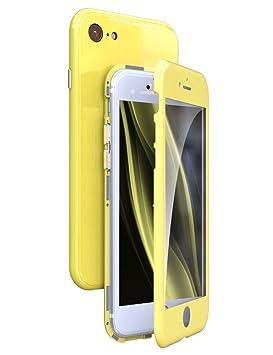 KumWum iPhone 7 Funda Adsorción Magnética Colorea Vidrio Templado Volver Carcasa y Antigolpes Marco de PC Duro 360 Grados Protección Case para iPhone ...