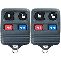 KeylessOption Keyless Remote Car Key Fob Replacement for CWTWB1U343, CWTWB1U313, LHJ002 (Pack of 2)