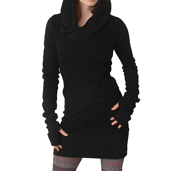 1cf97a5de026 Keepwin Damen Autumn Casual Minikleid Frauen Kapuzenpullover Hooded Kleid  Langarm Sport Pullover Kleid Sweatshirt Dress (