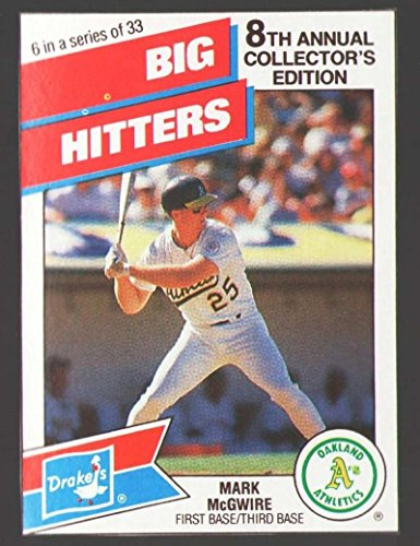 (1988 Drake's Big Hitters Super Pitchers - OAKLAND ATHLETICS/A'S)