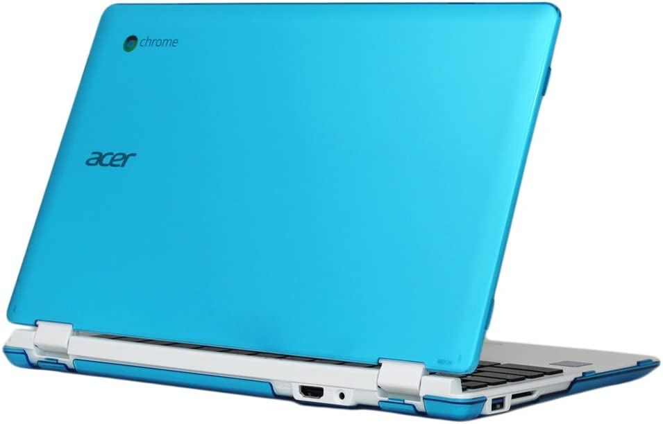 """mCover Aqua Hard Shell Case for 11.6"""" Acer Chromebook 11 CB3-131 or CB3-132 (Acer NX.GR3EK.001) Series with IPS HD Display Laptop ONLY (Model:CB3-131/CB3-132)"""