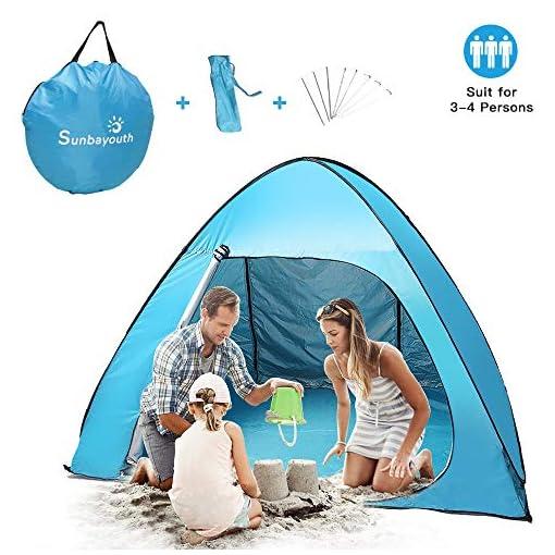 Sunba-Youth-Beach-Tent-Pop-Up-Tent-Baby-Beach-Sun-Shade-UV-Protection-Sun-Shelter