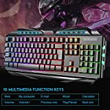 Gaming Keyboard and Mouse Combo,MageGee GK710 Wired Backlight Keyboard and Gaming Mouse Combo,PC Keyboard and Adjustable DPI Mouse for PC/Laptop/MAC