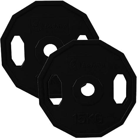 "BodyRip 2/"" Olympic Cast Iron Colour Coded Weight Plates 2 x 15Kg Multi Grip Gym"