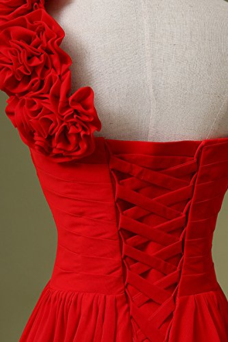 Herzform 126 Maxikleid Abendkleid Damen Rot BrautjungfernKleid Chiffon Clearbridal Lange CSD182 qBEwH7Pvx