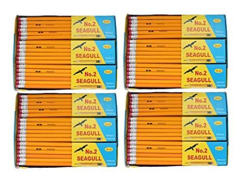 Pencils Pre-sharpened No. 2 144/box 4 Boxes of 144 New Improved Eraser by SEAGULL