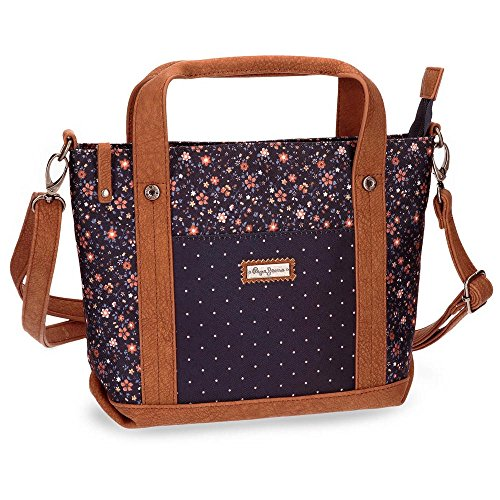 Nancy Borsa Messenger, 24 cm, 4.54 liters, Blu (Azul)