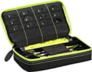 Casemaster Plazma Dart Case for Soft and Steel Tip Darts, Holds 3 Darts and Features Built-in Storage Tube and