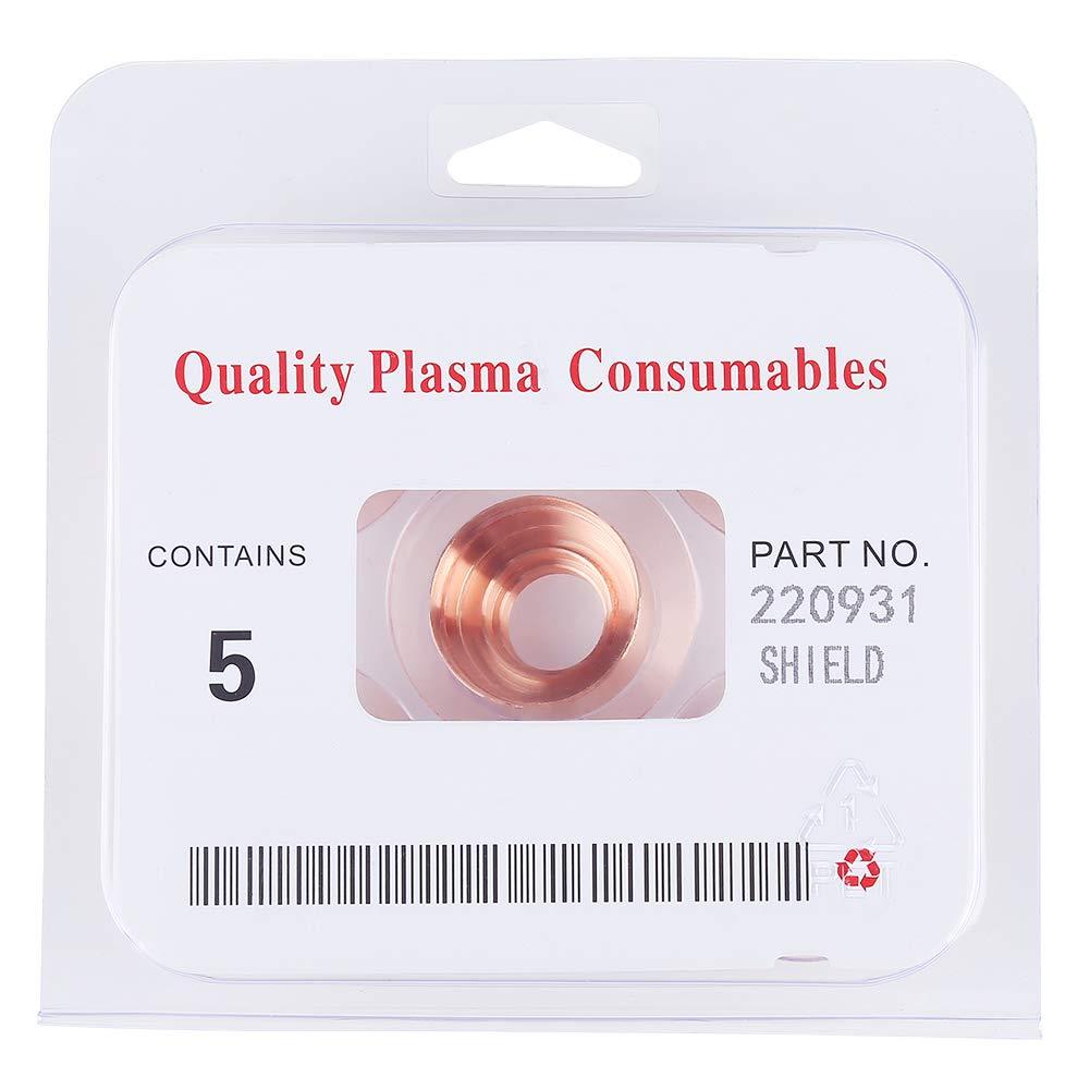 5Pcs Plasma Cuter Bouclier Bouclier Consommables Outils de soudage 220931 pour MAX105 outils de soudure Bouclier Plasma Consommables Plasma