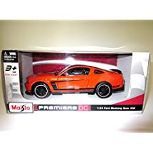 Maisto Premiere DC - Ford Mustang Boss 302 Orange - 2015 Model Car 1:24 Scale