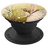 Fairy Tale Pop Socket - Vintage Design 10 Wings Girl Flowers - PopSockets Grip and Stand for Phones and Tablets
