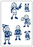 NFL Indianapolis Colts Small Family Decal Set