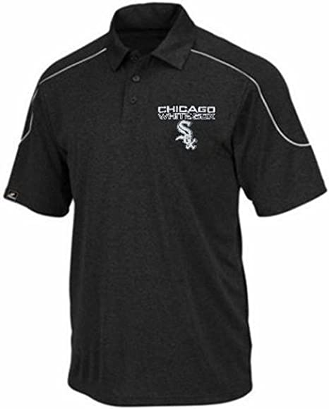 90fb7d54e Majestic Chicago White Sox Run Down Synthetic Polo Shirt Black Big   Tall  Sizes (4XT