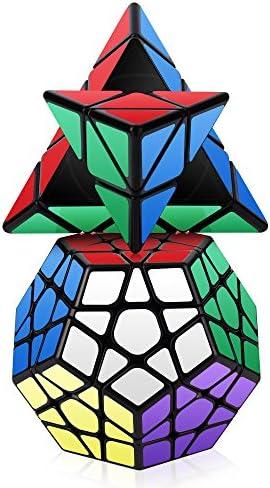 ROXENDA Speed Cube Set, Conjunto de Cubo Mágico de Pirámide Megaminx Cube Smooth Puzzle Cube, 2 Pack (Megaminx y Pyramid Cube): Amazon.es: Juguetes y juegos