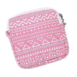 bjduck99 Cute Pattern Printed Mini Storage Bag for Women Sanitary Napkins Pad Holder