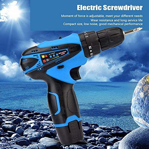 KEKEYANG Drill Electric Drill Professional Rechargeable Cordless Electric Screwdriver Industrial Handheld Tool 16.8V(UK Plug) Screwdriver