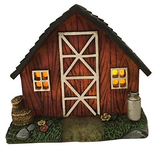 Fairy Garden Barn with Milk Jug-Barrel and - Garden Jug