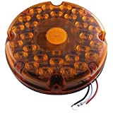 "Amber 7"" Round LED Stop/Tail/Turn Lights"