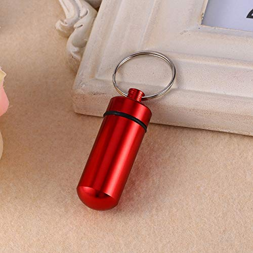 Bottle Storage - Pill Shaped Cute And Stylish Portable Waterproof Mini Aluminum Keychain Tablet Metal Storage Box - Bottle Boxes Sampler Baby Dishwasher Gift Sample Container Storage Moving Ship