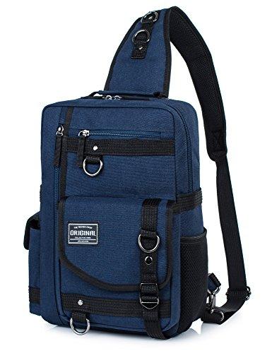 Messenger Bag for Men, Cross Body Shoulder Sling Bag Travel Outdoor Gym Backpack Dark Blue