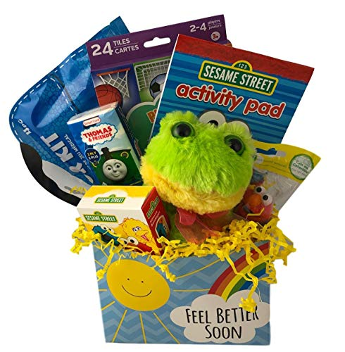 Little Boys Toddler Feel Better Get Well Gift Box with Activities Plush and Comfort Items ()