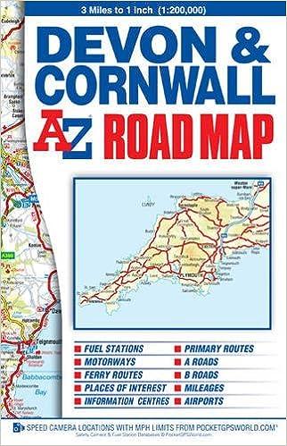 Devon Cornwall Road Map AZ Road Map Geographers AZ Map - Az road map