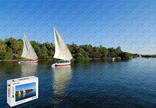 PigBangbang,20.6 X 15.1 Inch,Basswood Large Size - Sailboat Racing On The Water - 500 Piece Jigsaw Puzzle