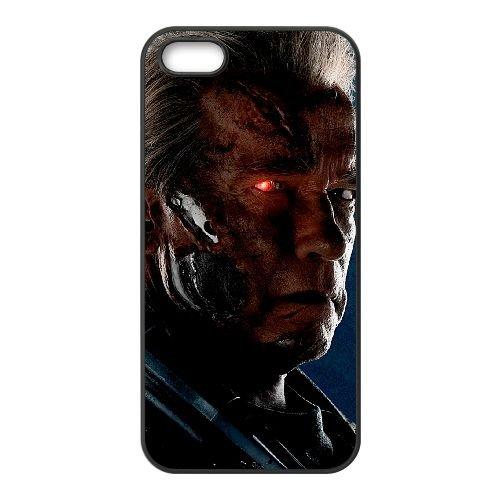 Arnold As T 800 Terminator Genisys 2015 Wide coque iPhone 4 4S cellulaire cas coque de téléphone cas téléphone cellulaire noir couvercle EEEXLKNBC23086