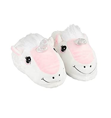 e04ab479107 Unicorn Slippers 8-9 Years White
