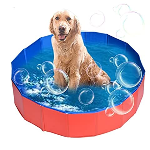 Viment Foldable Pet Swimming Pool Bathing Tub Bathtub Dog Cats Washer - 32inch.D x 8inch.H (Tub For Small Pets)