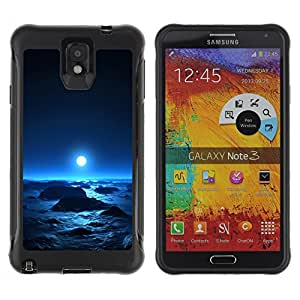 ZAAAZ Rugged Armor Slim Protection Case Cover Durable Shell - Space Planet Galaxy Stars 64 - Samsung Note 3