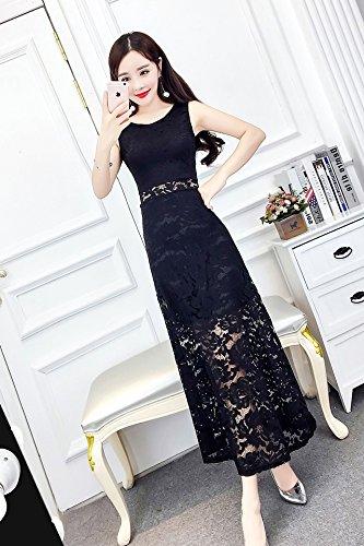 c2c4a70843aa9a Amazon.com   Generic 8  color  options  new summer Korean lady round neck sleeveless  dress Slim thin lace dress Women dress   Beauty