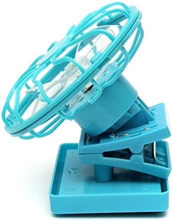 Mini ventilateur solaire portable avec clip casquette Bleu