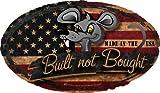 "ProSticker 723 (One) 4""x 7"" Rat Rod Series ""Built Not Bought"" Flag Decal Sticker"