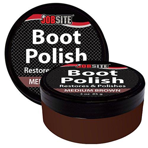 d48da2c46ed64 JobSite Premium Leather Boot & Shoe Polish Cream - Restores, Conditions &  Polishes Leather & Vinyl Boots, Shoes, Car Auto Interior, Jackets & Purses  - ...
