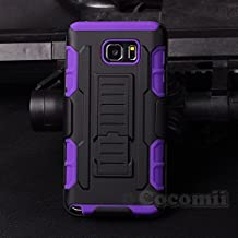 Galaxy Note 5 Case, Cocomii® [HEAVY DUTY] Robot Case *NEW* [ULTRA FUTURE ARMOR] Premium Belt Clip Holster Kickstand Bumper [MILITARY DEFENDER] Full-body Rugged Dual Layer Cover for Samsung Galaxy Note 5 (Black/Purple) ★★★★★