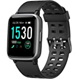 YAMAY Smart Watch for Android and iOS Phone IP68 Waterproof, Fitness Tracker Watch with Heart Rate Monitor Step Sleep Tracker