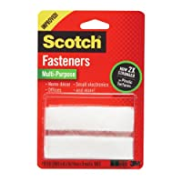 Scotch Multi-Purpose Fasteners, White, 3/4 x 3 Inch, 4 Sets per Pack (RF7030)