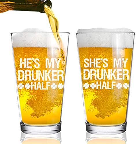 Drunker Patricks Glasses Couples Dishwasher