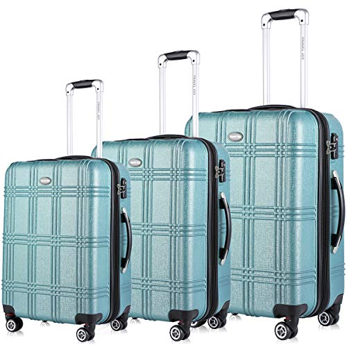 Travel Joy Expandable Spinner Luggage Set,TSA lightweight Hardside Luggage Sets, 20' 24'28 inches Carry On Luggage