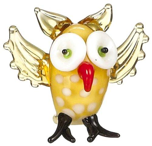 1 Inch tall 3-193e-glass-owl-er27023 6076236 Ganz Mini Glass Animal New Owl