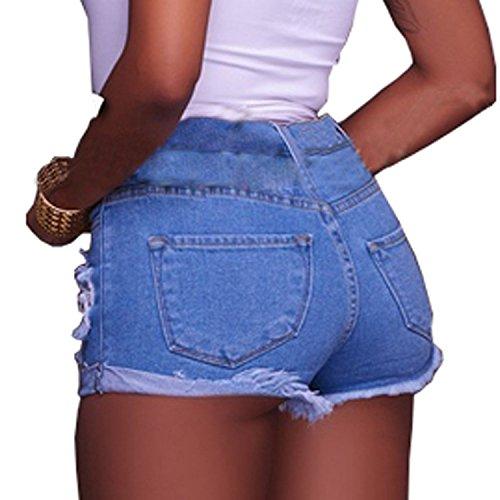 Divas Love Women's Stretchy Hot Pants Distressed Denim Shorts by Divas Love (Image #2)