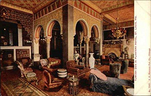Planters Hotel - Turkish Den St. Louis, Missouri Original Vintage Postcard