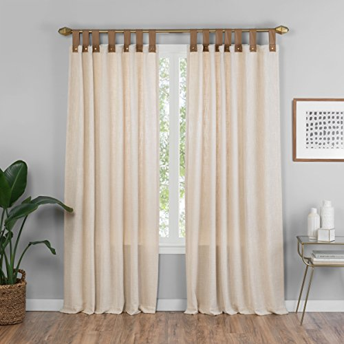 Tab Window Top - Vue Torrington Tab Top Window Curtain Panel 52x84 Natural