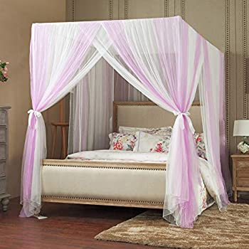 Mengersi bed canopy curtain net 4 corners - Canopy bed ideas for adults ...
